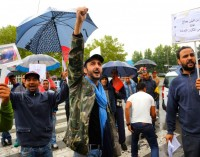 Le proteste contro il consolato del Marocco