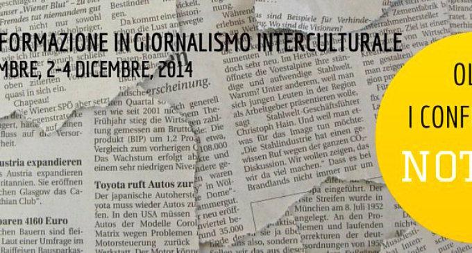 Corso di Giornalismo Interculturale: iscrizioni aperte